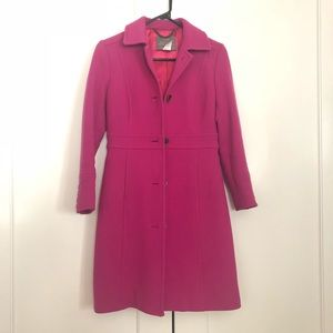 J.Crew Double Cloth Lady Day Coat Vintage Berry